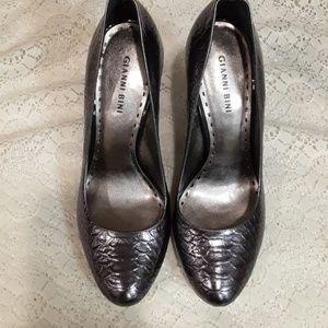 Gianni Bini Croco Leather Heels Shoes 10M